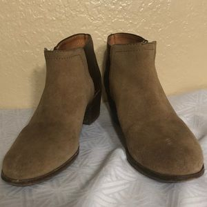 MADEWELL CAIT SUEDE LEATHER ANKLE BOOTS SIZE 6 1/2